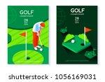 hobby sport golf poster... | Shutterstock .eps vector #1056169031