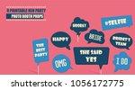 photo booth props set vector... | Shutterstock .eps vector #1056172775