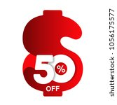 vector special sale offer. red... | Shutterstock .eps vector #1056175577