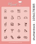set of 20 eat icons set.... | Shutterstock .eps vector #1056178385