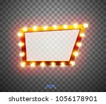 glowing lights retro for... | Shutterstock .eps vector #1056178901