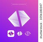 vector abstract logo elements.... | Shutterstock .eps vector #1056180347