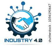 industry 4.0 concept business... | Shutterstock .eps vector #1056190667