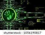 hud hi tech futuristic elements ...