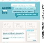 blue modern website design | Shutterstock .eps vector #105619199