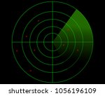 radar screen realistic digital...   Shutterstock .eps vector #1056196109
