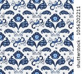 seamless pattern in traditional ... | Shutterstock .eps vector #1056202211