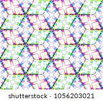 colorful seamless rhombus... | Shutterstock . vector #1056203021