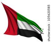 united arab emirates flag  ... | Shutterstock . vector #105620585