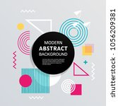 abstract with circle badge... | Shutterstock .eps vector #1056209381