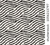 hand drawn striped seamless... | Shutterstock .eps vector #1056213797
