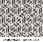 hand drawn black and white ink... | Shutterstock .eps vector #1056213815