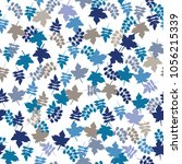 seamless pattern from leaves of ... | Shutterstock . vector #1056215339