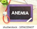 Small photo of Anemia text on blackboard, medicine concept