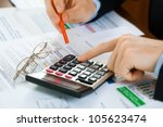 accounting. | Shutterstock . vector #105623474