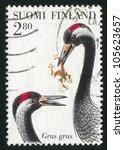finland   circa 1997  stamp...   Shutterstock . vector #105623657