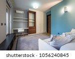 bedroom interior in modern... | Shutterstock . vector #1056240845