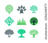 green nature tree logo. eco... | Shutterstock .eps vector #1056240977