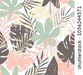 abstract summer bright floral... | Shutterstock .eps vector #1056244571