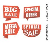 sale and discount banner set... | Shutterstock .eps vector #1056244925
