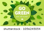 ecology theme happy earth day... | Shutterstock .eps vector #1056245054