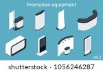 promotion equipment vector icon ... | Shutterstock .eps vector #1056246287