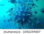 3d illustration viral infection ...   Shutterstock . vector #1056259007