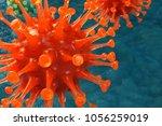 3d illustration pathogenic... | Shutterstock . vector #1056259019