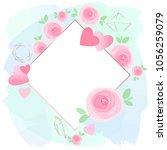 pastel colors brush strokes ...   Shutterstock .eps vector #1056259079