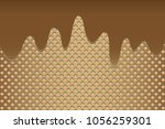 wafer background with melted... | Shutterstock .eps vector #1056259301