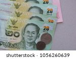 banknotes of thailand with a...   Shutterstock . vector #1056260639