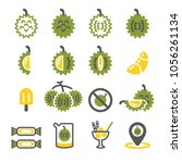 durian icon set | Shutterstock .eps vector #1056261134