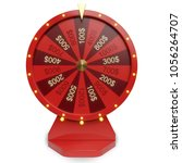3d illustration red wheel of... | Shutterstock . vector #1056264707