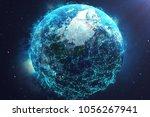 3d rendering network and data...   Shutterstock . vector #1056267941