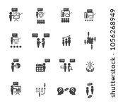 business training icon set.... | Shutterstock .eps vector #1056268949