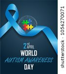 world autism awareness day on... | Shutterstock .eps vector #1056270071