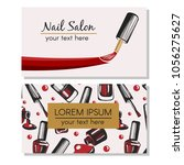 nail salon. nail bar. logotype... | Shutterstock .eps vector #1056275627
