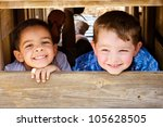 african american child and... | Shutterstock . vector #105628505