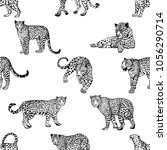 seamless pattern of hand drawn... | Shutterstock .eps vector #1056290714