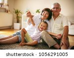 happy family. grandparents with ...   Shutterstock . vector #1056291005