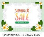 summer sale background.... | Shutterstock .eps vector #1056291107