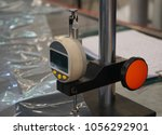 Small photo of Table top Thickness gauge station measuring low density plastic film in micron unit
