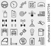 car icon set  black icon car ... | Shutterstock .eps vector #1056297734