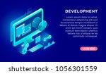 development concept for web... | Shutterstock .eps vector #1056301559