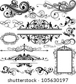 floral design elements | Shutterstock .eps vector #105630197
