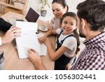 family man with wife and... | Shutterstock . vector #1056302441