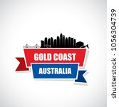 gold coast skyline   australia  ...   Shutterstock .eps vector #1056304739