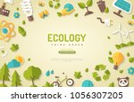 environmental protection ... | Shutterstock .eps vector #1056307205