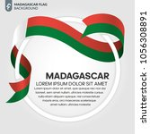 madagascar flag background | Shutterstock .eps vector #1056308891