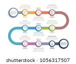 colorful timeline infographics... | Shutterstock .eps vector #1056317507